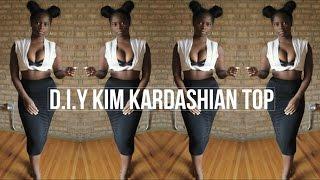 DIY KIM KARDASHIAN T-SHIRT TOP