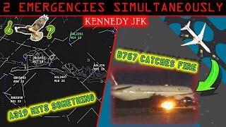 [REAL ATC] JFK airport has TWO SIMULTANEOUS EMERGENCIES!