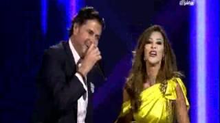 عرب ايدول نجوى كرم تغني لراغب علامه و احلام