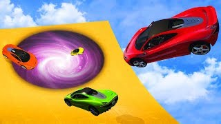 CRAZY TELEPORTING SUPERCAR RACE! (GTA 5 Funny Moments)