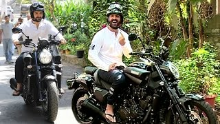 John Abraham Riding Sports Bike In Mumbai To Vote For BMC Elections 2017