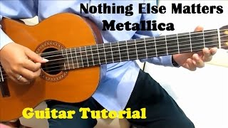 Metallica Nothing Else Matters Guitar Tutorial ( Intro ) - Guitar Lessons for Beginners