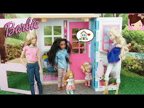 Disney Moana Moves into Barbies Apartment Tour - Barbie 2016 2 Story House