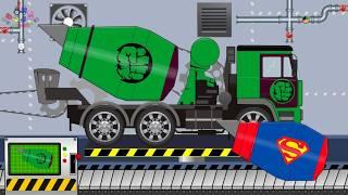Hulk Truck Concrete Mixer Truck | Toy Factory | Video For Kids | Betoniarka Ciężarowa Hulk
