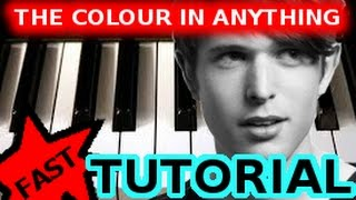 JAMES BLAKE - The Colour In Anything - PIANO TUTORIAL Video (Learn Online Piano Lessons)