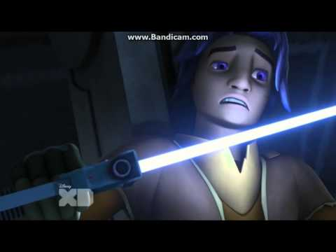 Star Wars Rebels Kanan and Ezera vs Darth Vader