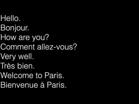 learn french Conversation- english 1 french 3