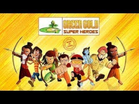 Chhota Bheem - Green Gold Super Hero's - Made in INDIA