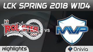 KT vs MVP Highlights Game 1 LCK Spring 2018 W1D4 KT Rolster vs MVP by Onivia