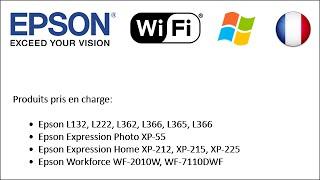 Comment paramétrer en wifi les imprimantes Epson (2014) (Win FR)