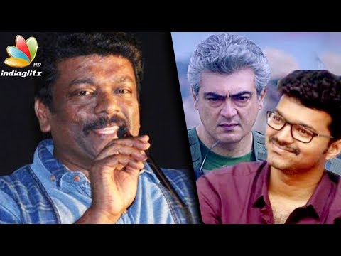 Ajith is bigger than Vivegam : Parthiban's Mersal Audio Launch trolls response