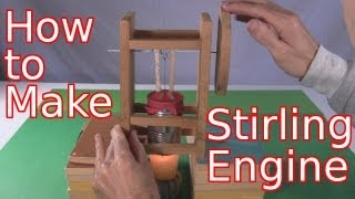 How to Make Stirling Engine - Single Cylinder Tomato Can (Homemade/DIY)