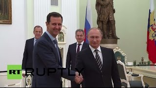 Russia: Syrian President Assad in Moscow for talks with Putin