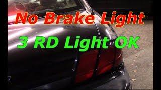 Diagnose and repair no brake lights (3rd brake light works)