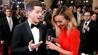 Charlie Puth Teases Selena Gomez COLLAB at Golden Globes 2016