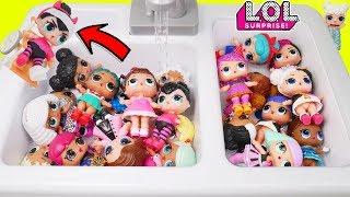 Heartbreaker Baby Custom LOL Surprise Dolls in Strollers + Lil Sisters Shop Big Kitchen Sink Video