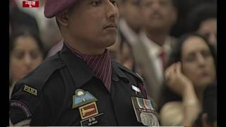 President awards Shaurya Chakra to Naik Bir Singh of 21st Battalion The Parachute Regiment