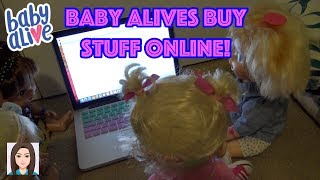 Baby Alives Order Stuff Online With Mom's Credit Card! Fidget Spinners Squishies Tangles Hatchimals!