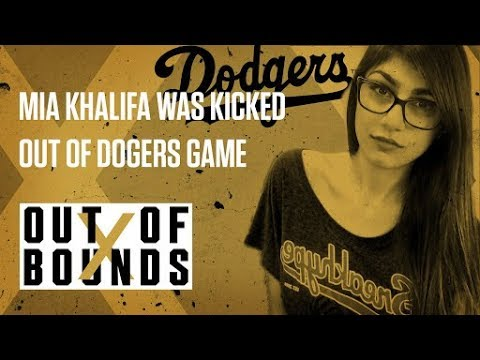 Xxx Mp4 Mia Khalifa Was Kicked Out Of A Dodgers Game Out Of Bounds 3gp Sex