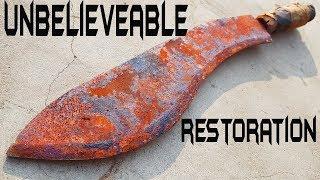 Rusty Handmade BUTCHER's SLICER - Unbelievable Restoration