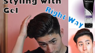 How to use Hair Gel | Asian Men Hairstyle | How to Apply Hair Product