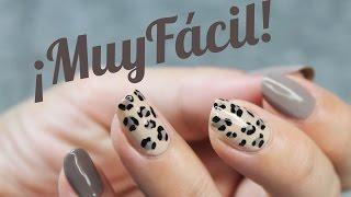 Uñas animal print leopardo FÁCIL y elegante