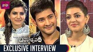 Samantha Funny Interview with Mahesh Babu and Kajal Aggarwal | Brahmotsavam Movie | PVP Cinema