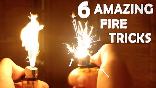 6 Amazing Fire Tricks! - Super Easy, Very Impressive!!