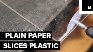 Paper blade cuts through anything