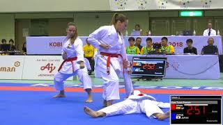 FINAL. Female Team Kata SPAIN. 2018 FISU World University Karate Championships.