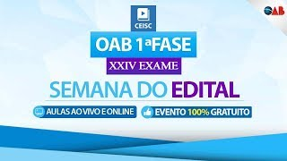 19/09 - 19:00 - 22:30- OAB 1ª Fase XXIV Exame - Leonardo Fetter