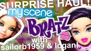 #FELLOFFTHETRUCK SURPRISE DOLL HAUL!!! Bratz Instapets & My Scene!! With Sailorb1959 and Logan!!