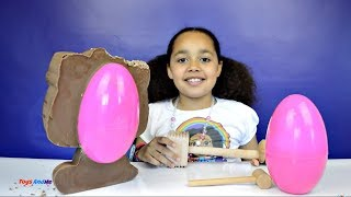 BASHING Giant Chocolate Hello Kitty - Huge Egg Surprise Toy Opening - Candy & Sweets Review