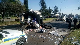 Footage : Cash-In-Transit Vans Bombed in South Africa
