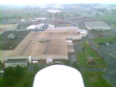 Hobbyzone Mini Super Cub RC Airplane Onboard Camera Flying Over Factories