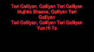 galiyaan unplugged karaoke with lyrics