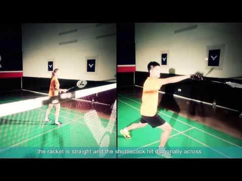 Badminton specific training (8) - Cross-court Net Shots