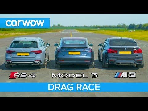 Xxx Mp4 Tesla Model 3 Vs BMW M3 Vs Audi RS4 DRAG RACE ROLLING RACE Amp BRAKE TEST 3gp Sex