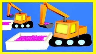 Learn colors for kids with 3D animation by Chupakids #5 Learn colors Truck and Excavator Cars