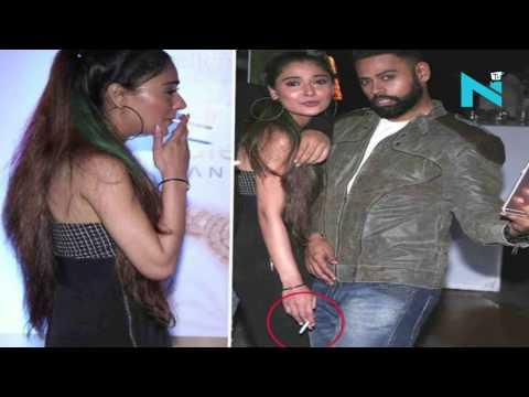 Shocking!! Bidaai actress Sara Khan caught smoking in public