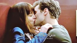 Set Fire To The Rain - Christian & Ana | Fifty Shades of Grey
