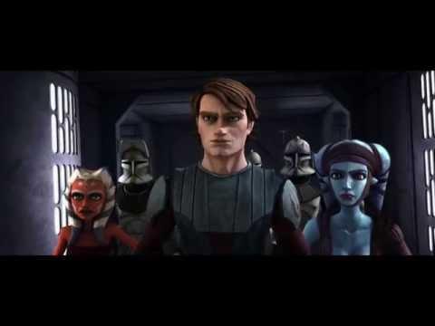 Star Wars The Clone Wars Anakin & Ahsoka Tano rescuing Aayla Secura 1080p