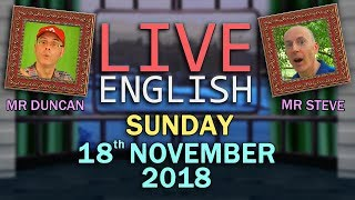 Live English Listening & Chat - 18th November 2018 - Building Idioms + Phrases - SHEEP !!!!