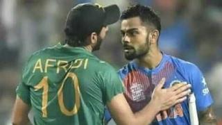 Fight between Virat Kohli & Shahid Afridi world T20 2016, Mauka Mauka