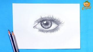 Realistic Eye Drawing Tutorial | How To Draw An Eye Looks Real