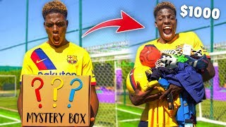 My Bestfriend Surprised Me With a $1000 Football MYSTERY BOX!