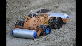How To Make a Road Roller -  Heavy road making machine