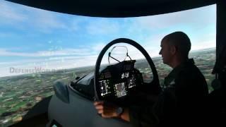 Eurofighter Typhoon Capabilities Using A Simulator At LIMA 2017:  HD Video