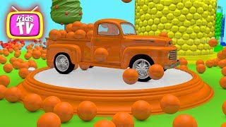 Learn colors with cars and balls. Painting cars video for kids