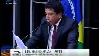 Magno Malta denuncia a farsa do AVAAZ.